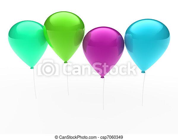 3d ballon colorful - csp7060349