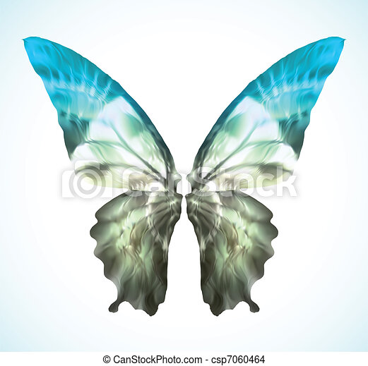 Vibrant blue Butterfly Isolated. Vector - csp7060464