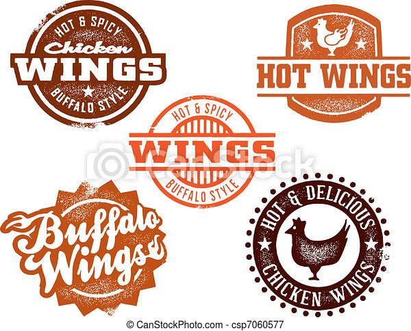 Hot Chicken Wing Graphics - csp7060577