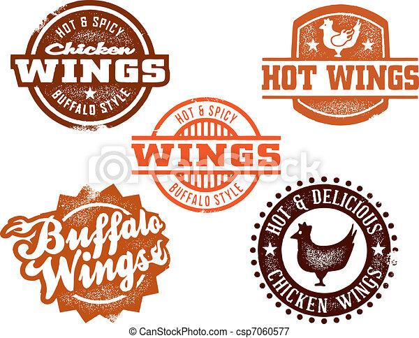 Hot Chicken Wing Graphics - csp7060577