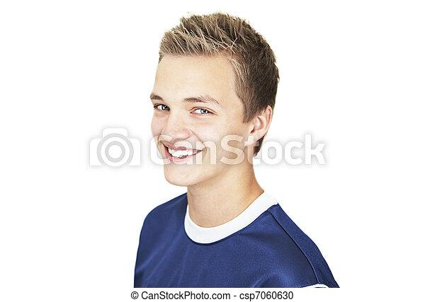 Stock fotografie van vrolijk jongen 16 oud jaar een vrolijk 16 jaar csp7060630 for Deco slaapkamer jongen jaar oud