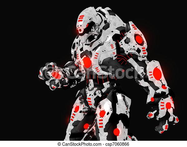 Futuristic Robot Drawings Battle Robot Csp7060866
