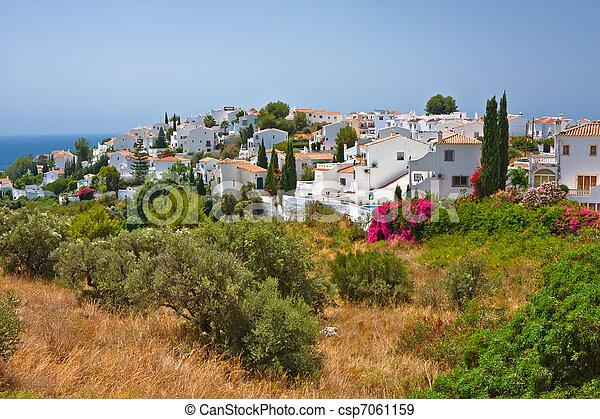 Spanish landscape, Nerja, Costa del Sol - csp7061159