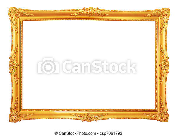 old antique gold frame - csp7061793