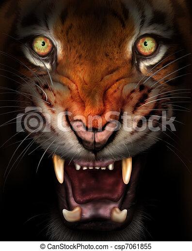 Fierce tiger - csp7061855