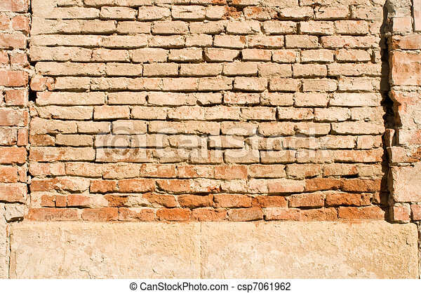 clip art de mur pierre brique fond pierre et brique fond vieux csp7061962. Black Bedroom Furniture Sets. Home Design Ideas