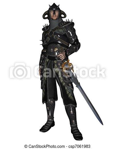 Dark Fantasy Knight - csp7061983