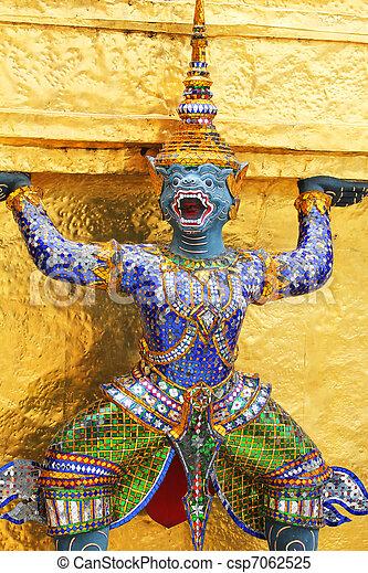 Buddhist temple, Bangkok, Thailand. - csp7062525