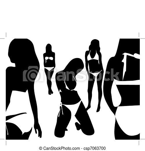 Women in the swimsuit - csp7063700