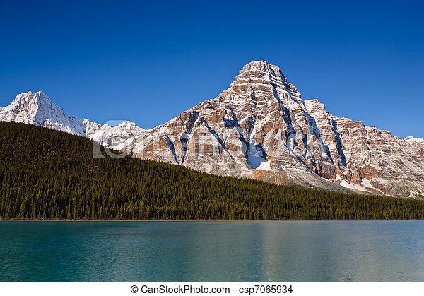 Mount Chephren and Waterfowl Lake - csp7065934