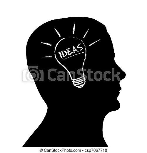 Silhouette head - Ideas - csp7067718