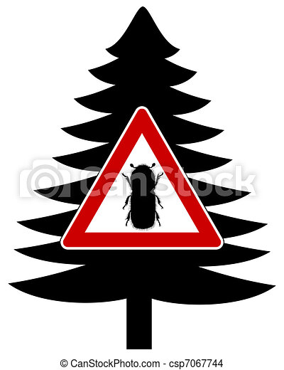 Bark-beetle attention sign - csp7067744