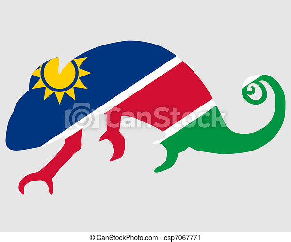 Namibia Chameleon - csp7067771