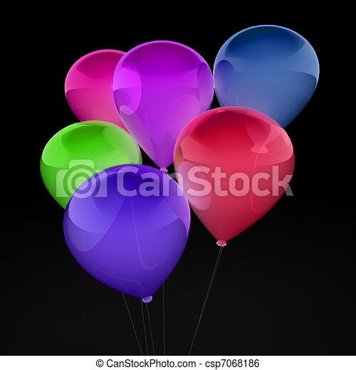 3d ballon colorful - csp7068186