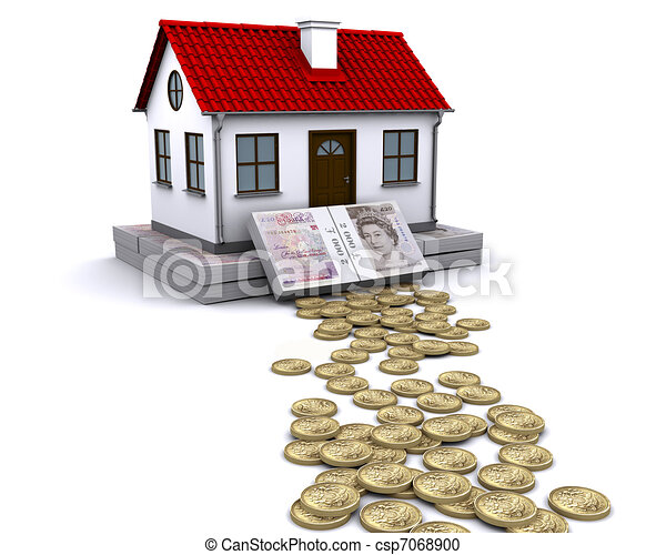 pound sterling money - a stable foundation for home - csp7068900