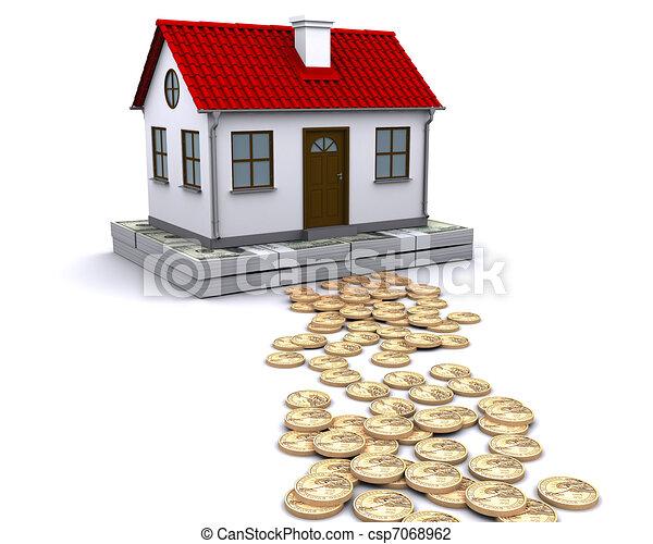 Clip art de maison fondation curie argent argent for Dessin fondation maison