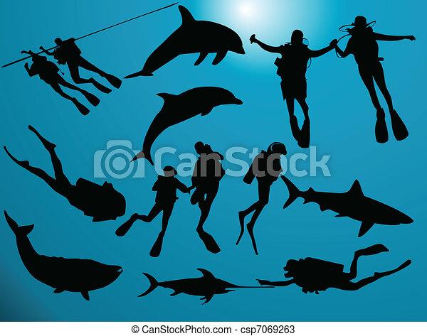 Scuba divers - csp7069263