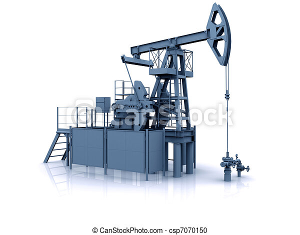 Engineering 3D model of oil production equipment (oil pump-jack) - csp7070150