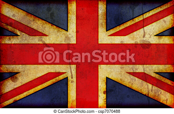 Grunge Union Jack Illustration - csp7070488