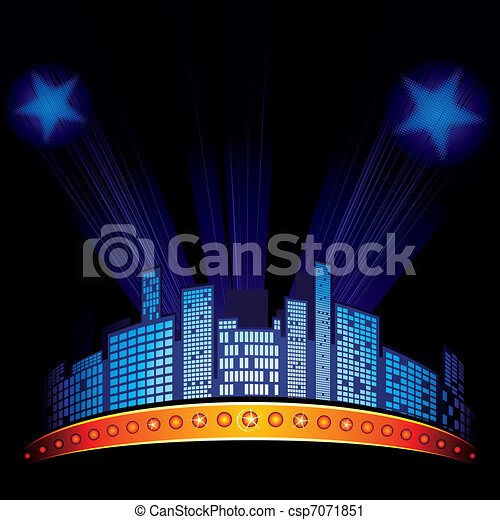 Night cityscape - csp7071851
