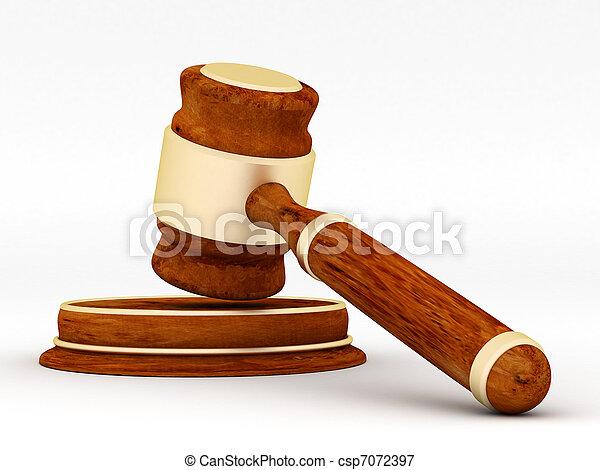 judicial paraphernalia - csp7072397
