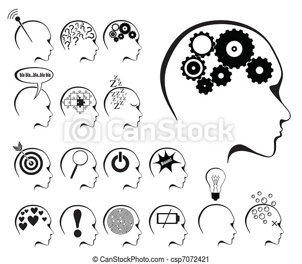 brain activity and states icon set - csp7072421