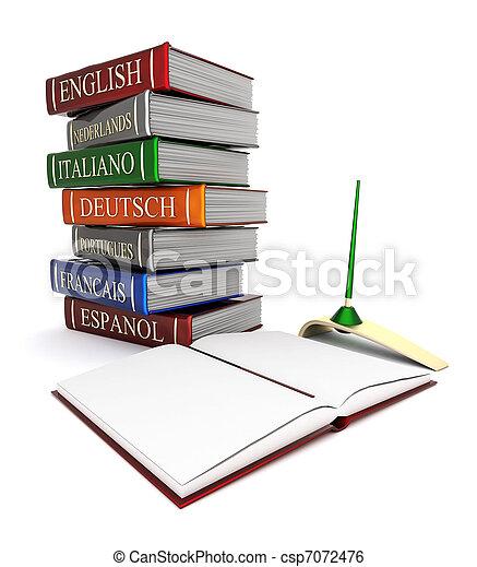 Books bindings and Literature - csp7072476