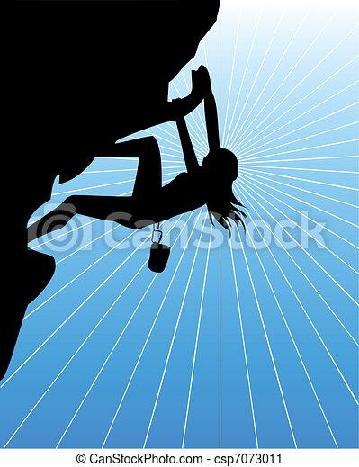 A climbing woman - csp7073011