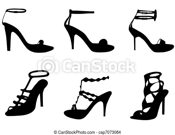 Beach Sandals Drawing Woman Sandals Drawing