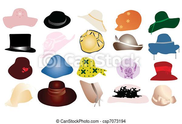 Woman hats - csp7073194
