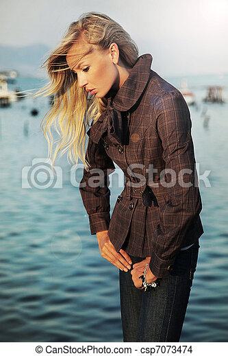 Beautiful blonde  - csp7073474