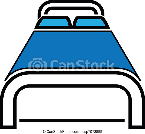 Vector of Bed Icon Vector Illustration - Bold bed icon can ...