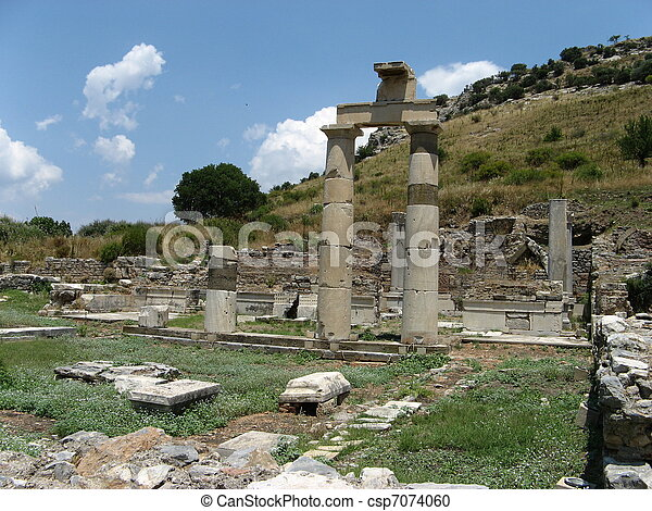 Stock Photography of Ancient city Ephesus - Temple of ...