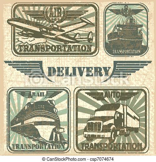 Transportation set stamp - csp7074674