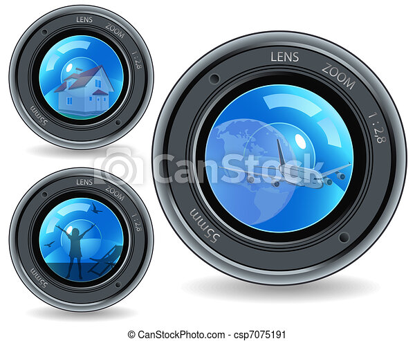 Lens and objects - csp7075191
