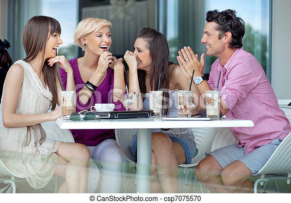 Cheerful group of friends - csp7075570