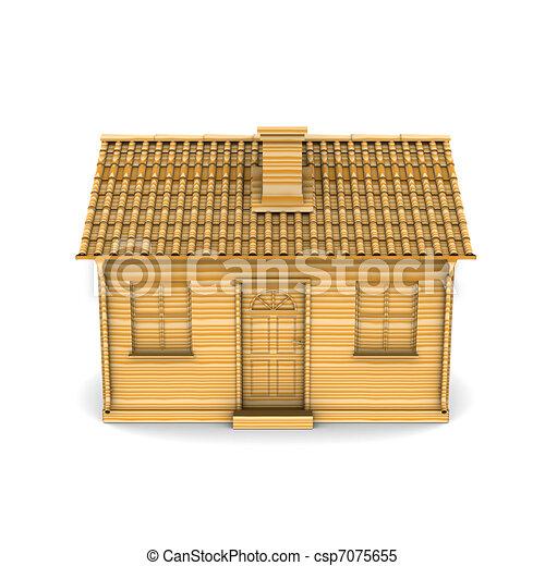 Illustrations de maison rendre bois 3d maison de - Dessin de maison en bois ...