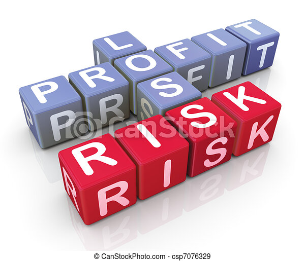 Crossword of profit,loss and risk - csp7076329