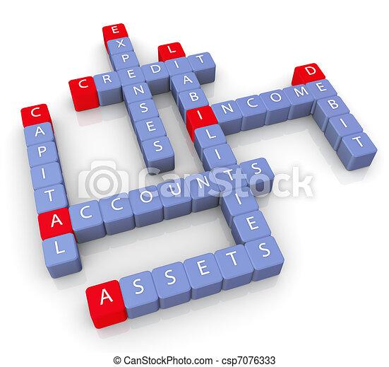 Crossword of accounts - csp7076333