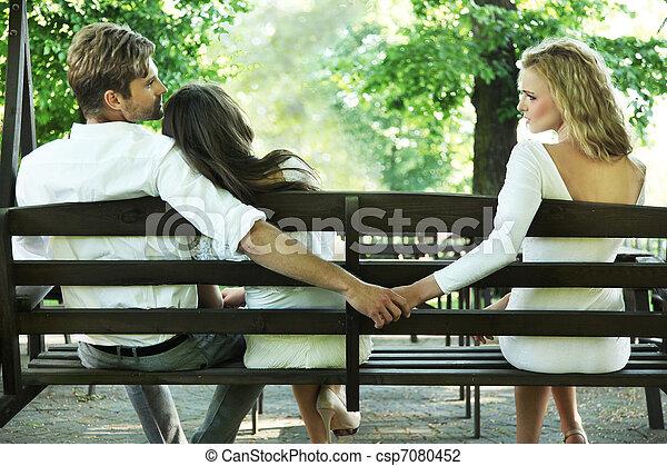 Conceptual photo of a marital infidelity - csp7080452