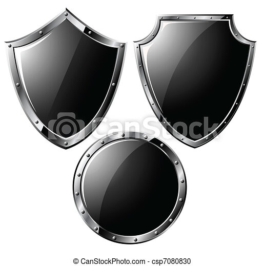 Set of black steel shields - csp7080830