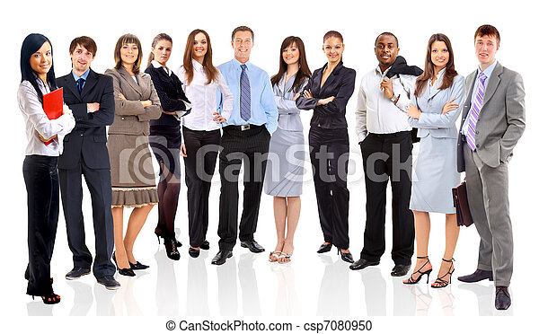 Young attractive business people - the elite business team  - csp7080950