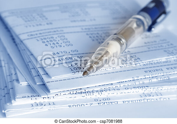 Rapport, bankrörelse - csp7081988
