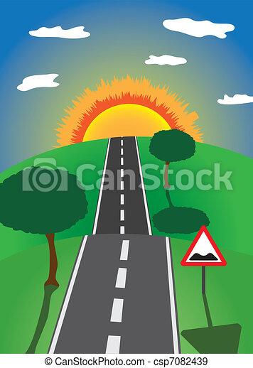 road to the horizon - csp7082439