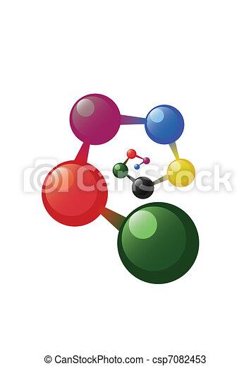 Spiral atom model - csp7082453