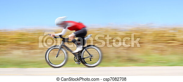 Racing bicycle, motion blur - csp7082708