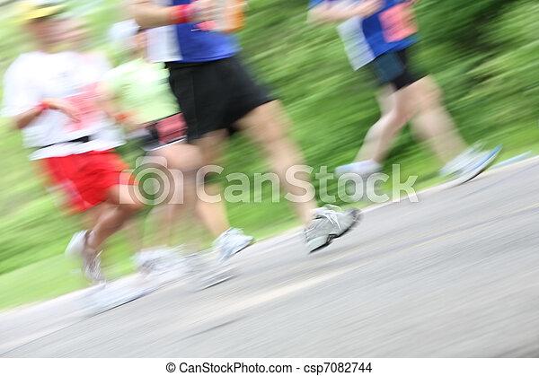 Marathon (in camera motion blur) - csp7082744