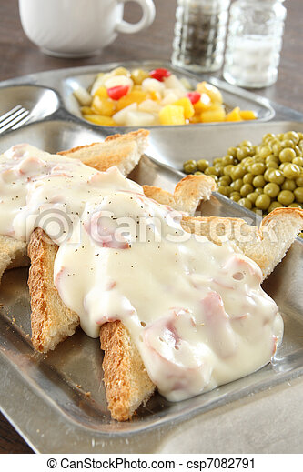 Creamed Chipped Beef on Toast - csp7082791