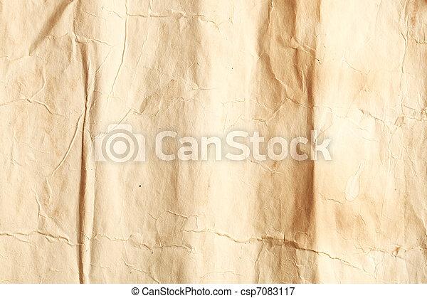 Old wrinkled paper - csp7083117