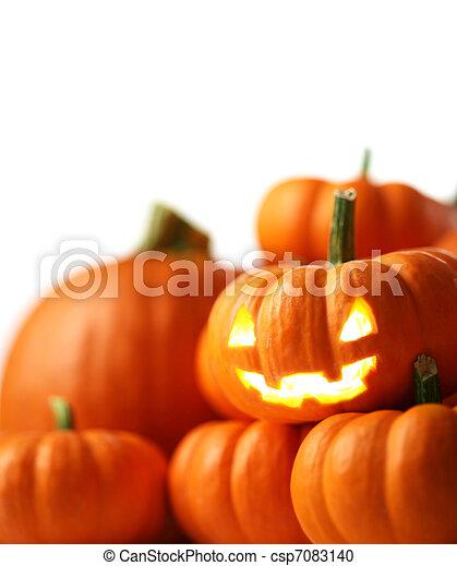 Jack-o'-lantern - csp7083140